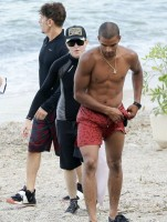 Madonna at the beach in Villefranche, France - 14 August 2013 (13)