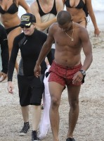Madonna at the beach in Villefranche, France - 14 August 2013 (14)