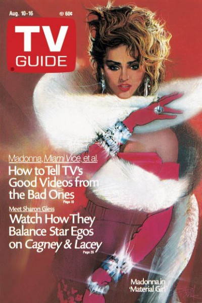 Madonna on the 10 August 1985 cover of TV Guide