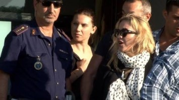 Madonna at the Ciampino airport in Rome - 19 August 2013 (2)