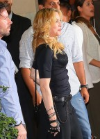 Madonna at the Hard Candy Fitness Centre, Rome - 21 August 2013 (2)