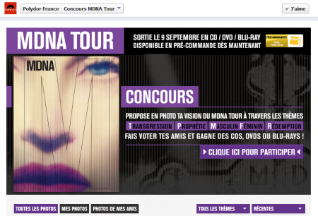 MDNA Tour France concours