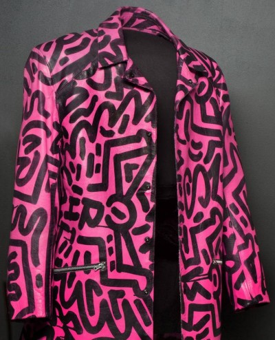 Madonna Keith Haring Jacket at Keith Haring All-Over exhibition