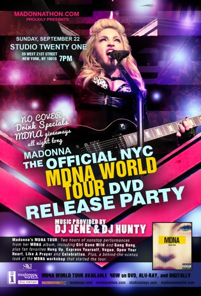 MDNA Tour DVD Release Party New York