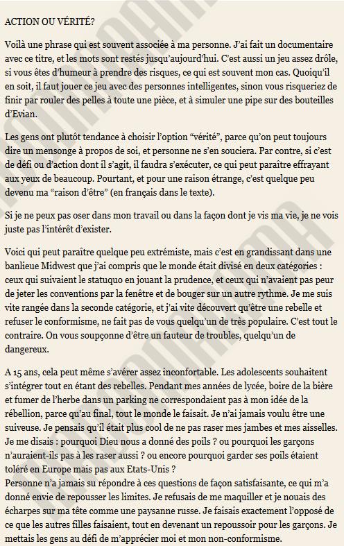 Madonna Harpers Bazaar - Texte Interview - Traduction Madonnarama - November 2013