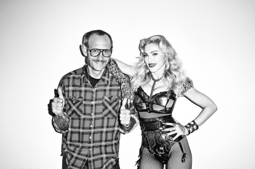 Madonna by Terry Richardson for Harper's Bazaar - On the set