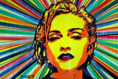 Madonna Tape Art by Bronya Benidetter & Sonya Benidetter
