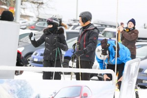 Madonna spotted skiing in Gstaad, Switzerland - December 2013 (7)