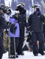 Madonna spotted skiing in Gstaad, Switzerland - January 2014 (13)