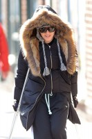 Madonna out and about on crutches in New York - 17 January 2014 (1)