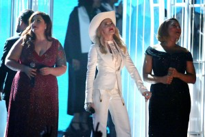 Madonna performs at the 56th annual Grammy Awards with Macklemore (5)