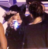 Madonna and Miley Cyrus at the taping of the MTV Unplugged - 28 January 2014 02