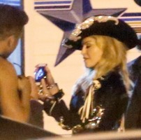 Madonna and Miley Cyrus at the taping of the MTV Unplugged - 28 January 2014 03