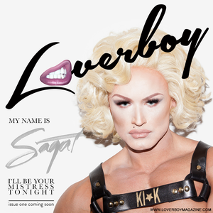 Francois Sagat on the cover of Loverboy Magazine