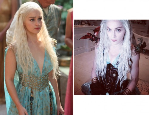 Emilia Clarke: Madonna wore the real Daenerys Targaryen costume on Purim