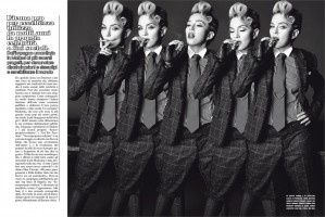 Madonna by Tom Munro for L'Uomo Vogue - Full photo spread (3)
