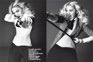 Madonna by Tom Munro for L'Uomo Vogue - Full photo spread (4)