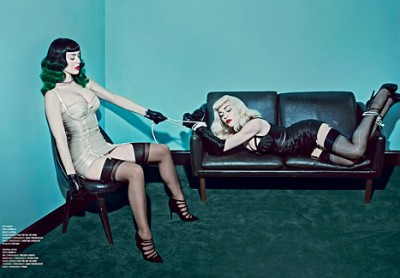 Madonna and Katy Perry by Steven Klein for V Magazine (2)