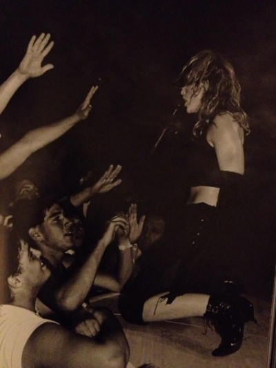 Madonna during The Virgin Tour by Lynn Goldsmith from her book Rock and Roll Stories