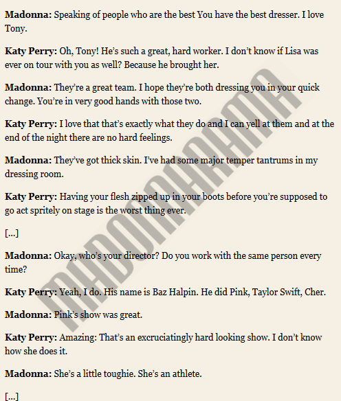The full Madonna & Katy Perry interview for V Magazine 03