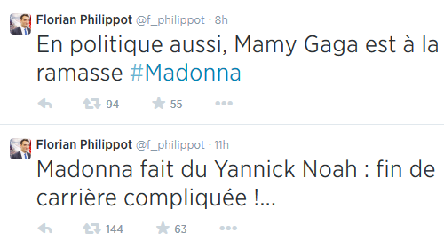 Madonna et le Front National - Florian Philippot Twitter