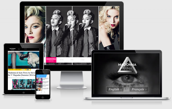 New Madonnarama Website Design Preview
