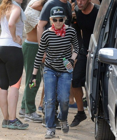Madonna enjoys a game of paintball in the south of France - 9 August 2014 (1)