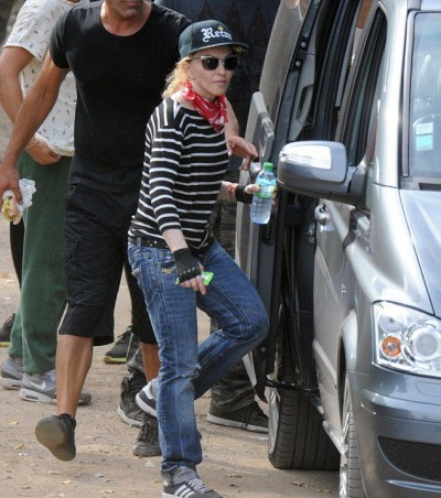 Madonna enjoys a game of paintball in the south of France - 9 August 2014 (2)