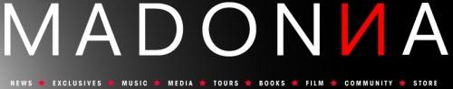 Madonna Official website new logo