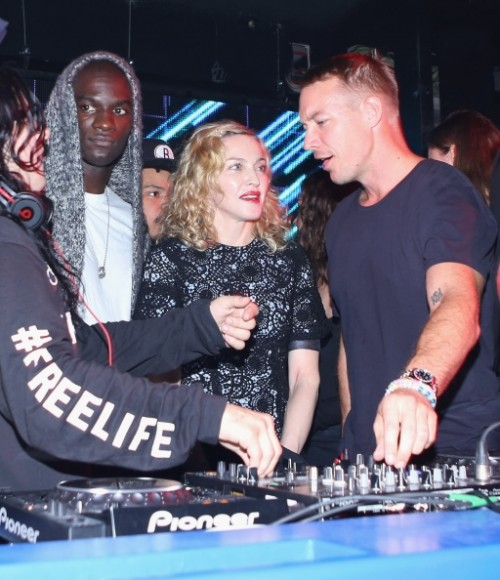 Madonna, Diplo and Skrillex at Jeremy Scott's After Party at the Space Ibiza, New York - 10 September 2014 - Pictures & Video (1)