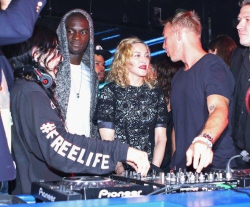 Madonna, Diplo and Skrillex at Jeremy Scott's After Party at the Space Ibiza, New York - 10 September 2014 - Pictures & Video (2)