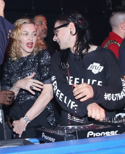 Madonna, Diplo and Skrillex at Jeremy Scott's After Party at the Space Ibiza, New York - 10 September 2014 - Pictures & Video (3)
