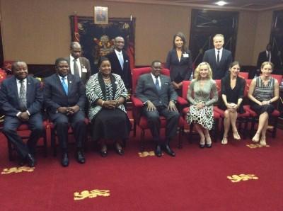 Madonna meets Malawi's president Peter Mutharika - 28 November 2014 (8)
