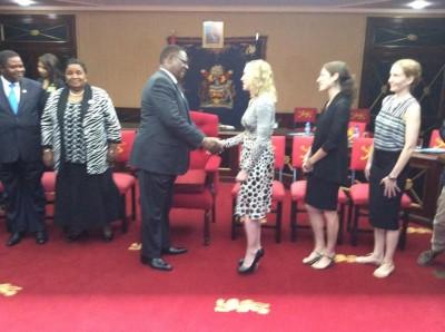 Madonna meets Malawi's president Peter Mutharika - 28 November 2014 (9)