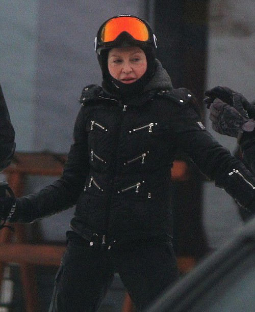Madonna spotted skiing in Gstaad, Switzerland - 2 January 2015 (10)