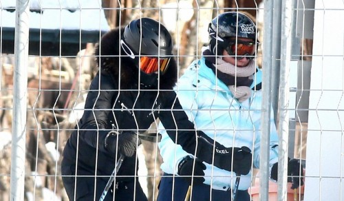 Madonna spotted skiing in Gstaad, Switzerland - 31 December 2014 (9)