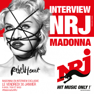 Madonna Rebel Heart NRJ radio interview France