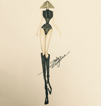In the video, Madonna can be seen wearing a custom matador bodysuit designed by Lebanese-born Shady Zein Eldine