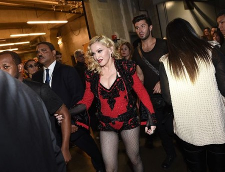 Madonna attends the 2015 Grammy Awards - Backstage 01