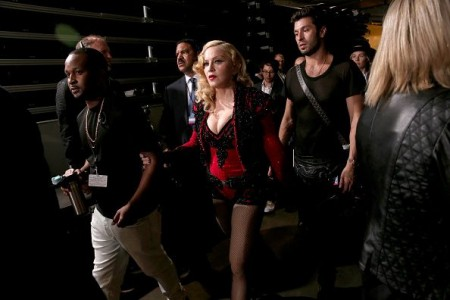 Madonna attends the 2015 Grammy Awards - Backstage 02