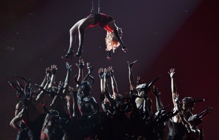 Madonna attends the 2015 Grammy Awards - Performance (1)