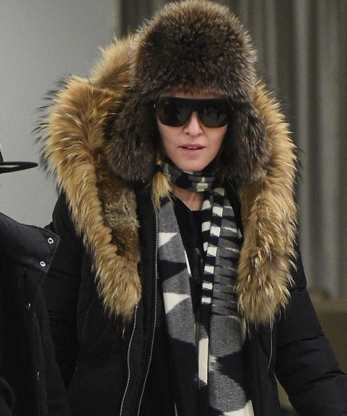 Madonna at JFK Airport, New York - 21 February 2015 - Pictures 01