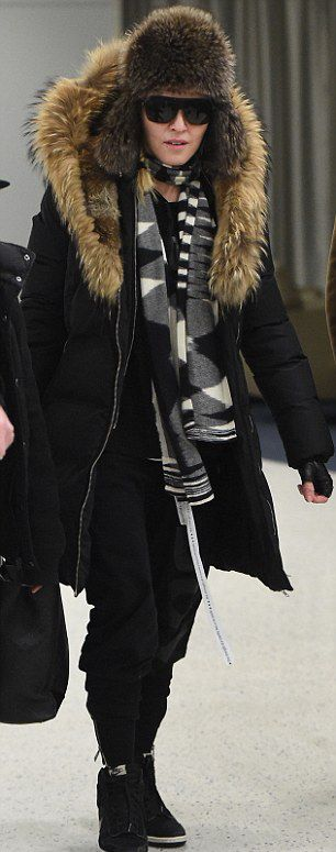 Madonna at JFK Airport, New York - 21 February 2015 - Pictures 02