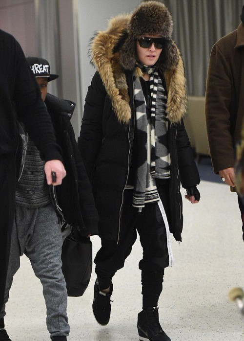 Madonna at JFK Airport, New York - 21 February 2015 - Pictures 03