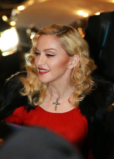 Madonna at the Che Tempo Che Fa taping in Milan - 1 March 2015 (1)