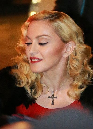 Madonna at the Che Tempo Che Fa taping in Milan - 1 March 2015 (3)