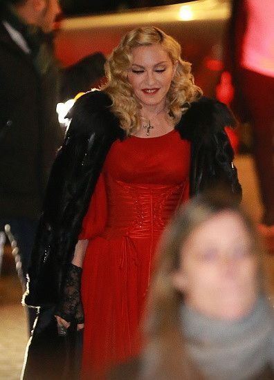 Madonna at the Che Tempo Che Fa taping in Milan - 1 March 2015 (4)