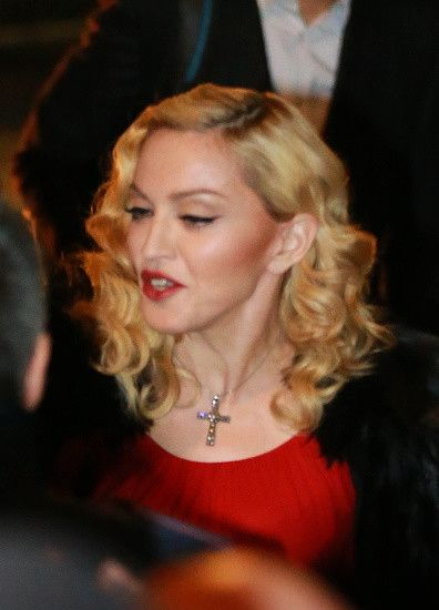 Madonna at the Che Tempo Che Fa taping in Milan - 1 March 2015 (8)