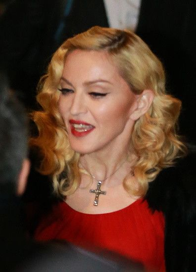 Madonna at the Che Tempo Che Fa taping in Milan - 1 March 2015 (9)
