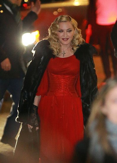 Madonna at the Che Tempo Che Fa taping in Milan - 1 March 2015 (10)